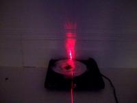 turntable, silver foil, laser